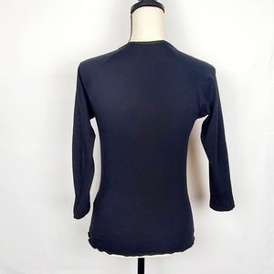 Guess Tops - Guess Jeans Black Mesh Long Sleeve Blouse XL